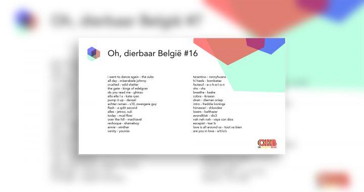 Oh, dierbaar België – Uitzending #16